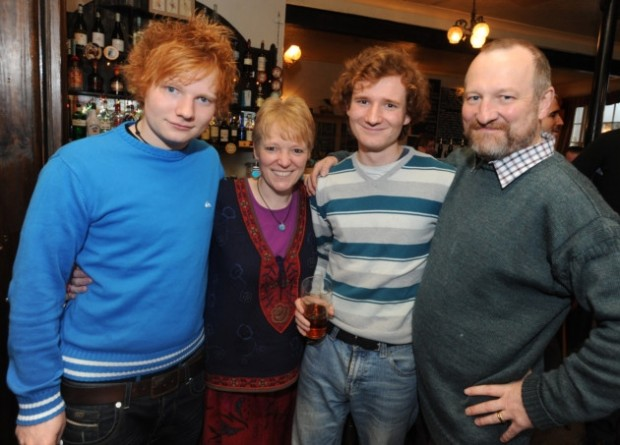 Ed Sheeran with his family