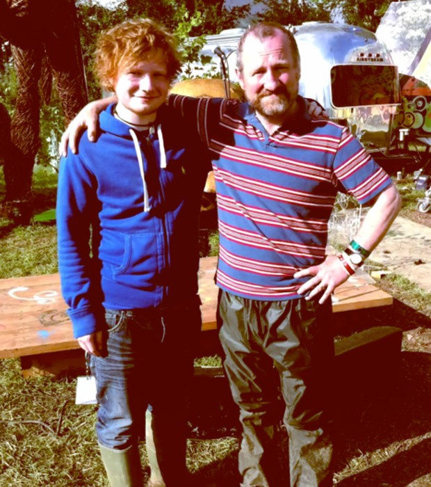 Ed with His Father John Sheeran