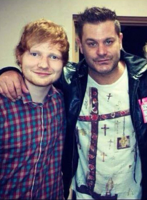 Ed Shareen with his cousin Jethro Sheeran