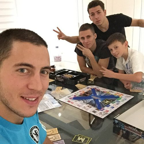 Eden Hazard and his three brothers