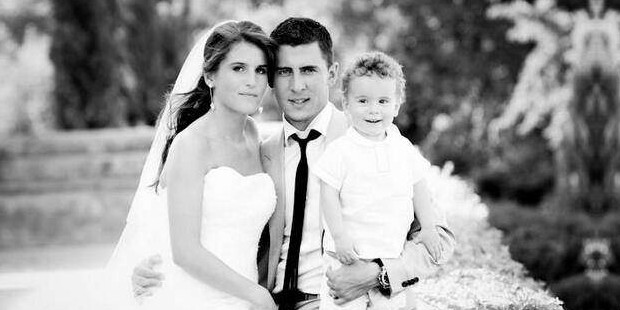Eden Hazard on his wedding day