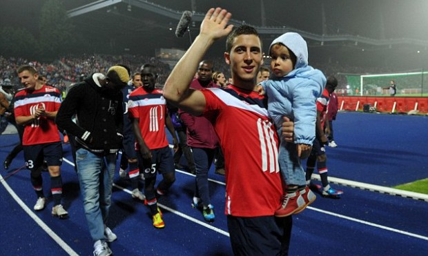 Eden Hazard and his son Yannis Hazard