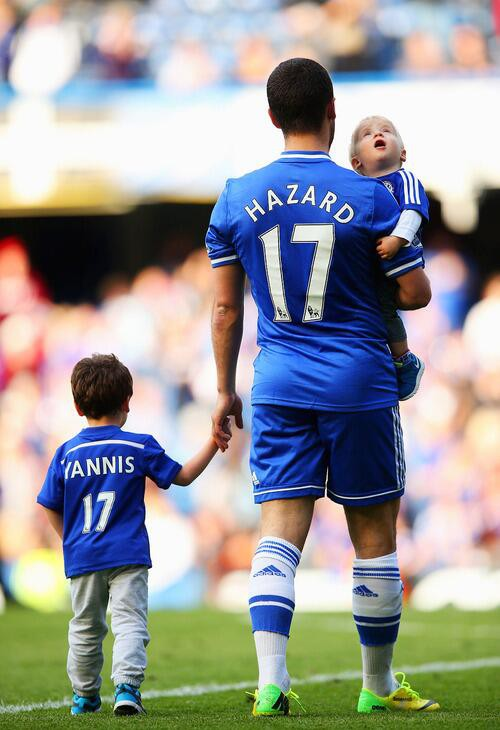 The Hazards Eden and his sons Yannis and Leo