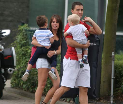 Eden with his children and wife