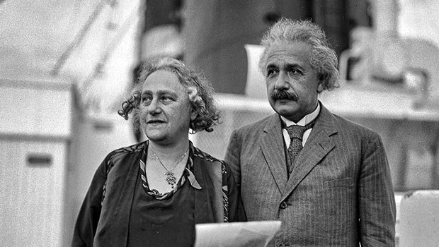 Einstein with his wife Elsa Einstein
