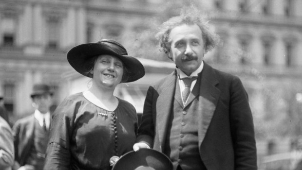 Einstein and his wife Elsa