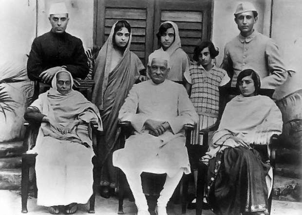 Indira Gandhi with her Grandfather Motilal Nehru