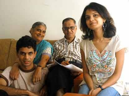 Narayana Murthy With His Family