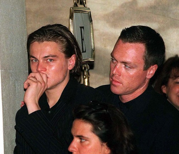 Dicaprio with His Brother Adam in 1997