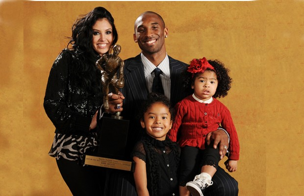 Kobe with His Wife and Kids