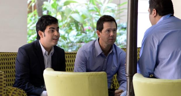 Mukesh Ambani Elder Son Akash with Ricky Ponting