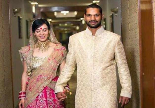Dhawan with Ayesha on Wedding Day