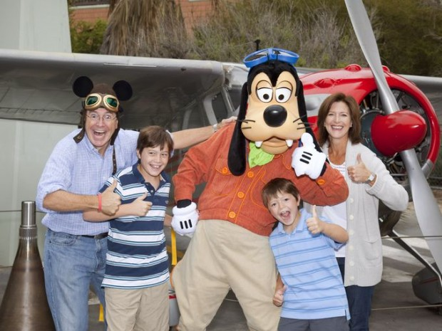 Stephen Colbert with his Wife And Children At Disney Land