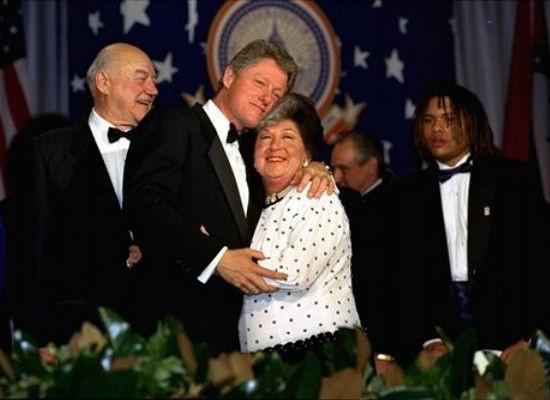 Bill Clinton and his mother Virginia Clinton
