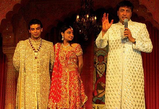 Lakshmi Mittal at His Son Wedding Party