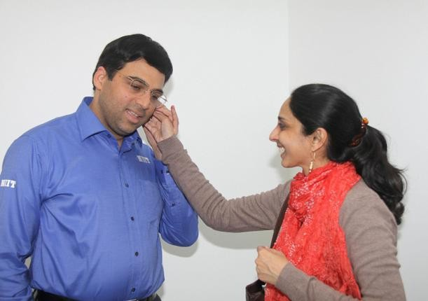 Vishy Anand and his Wife Aruna