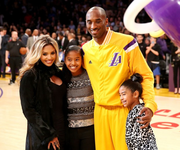 Kobe with Wife Vanessa and Daughters Giana and Natalia