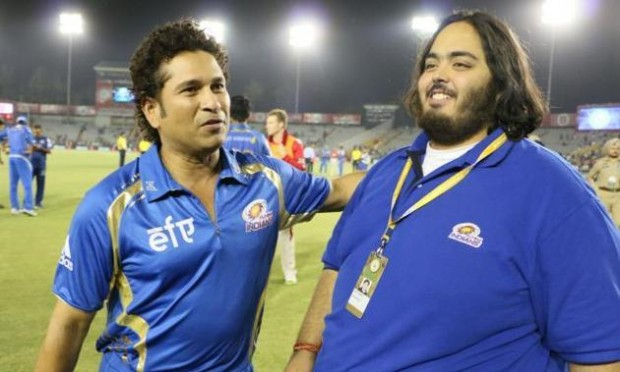 Mukesh Ambani Younger Son Anant with Sachin
