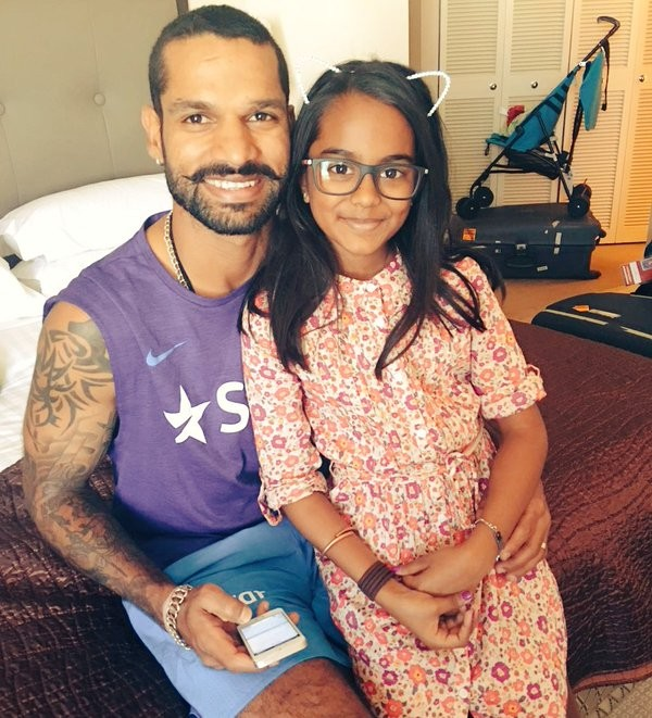 Shikhar Dhawan with Rhea