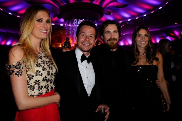 Christian Bale and His Wife Sibi Blazic with Mark Wahlberg and Rhea Durham