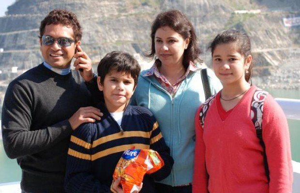 Tendulkar Family in Mussoorie