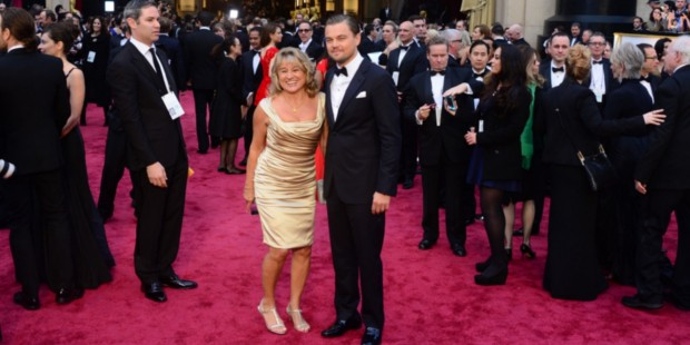 Dicaprio with His Mother at 88th Academy Awards