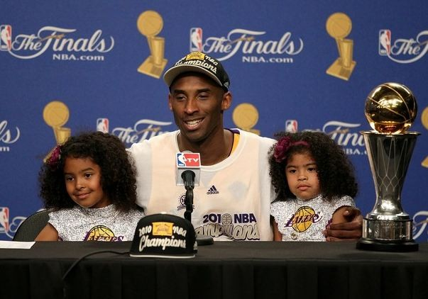 Kobe with His Twin Daughters