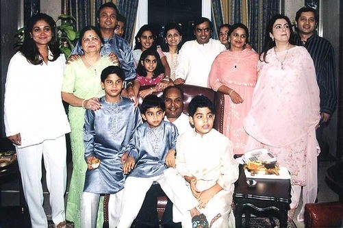 Mukesh Ambani with His Entire Family
