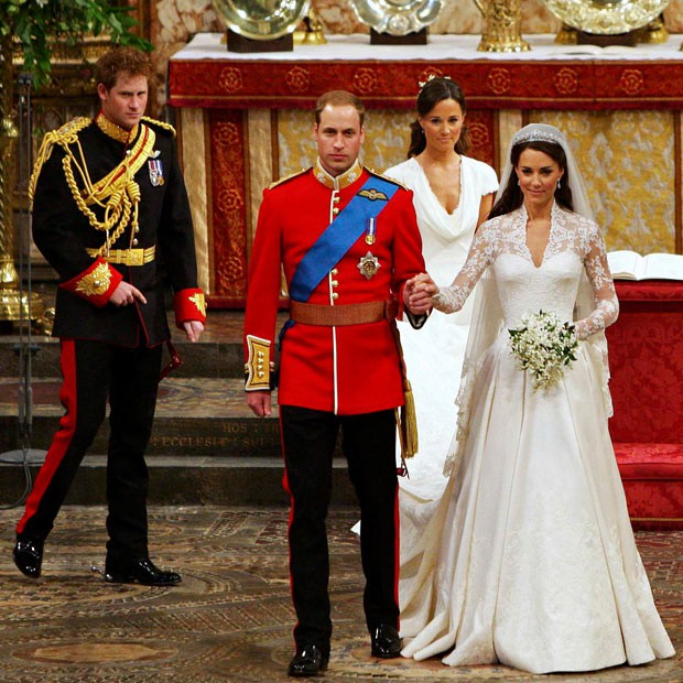 Prince Harry at Prince Williams Wedding