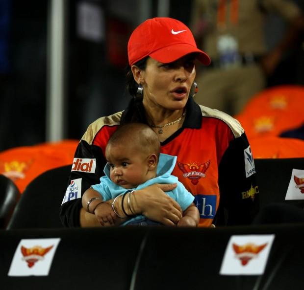 Ayesha Mukherjee with her son Zoravar Dhawan