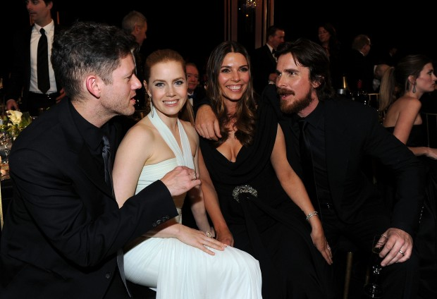 Christian Bdyale and His Lady Sibi Blazic with Amy Adams