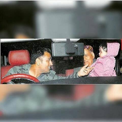 Mahi with His Daughter in Car