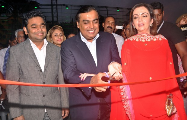 Mukesh and His Wife Nita at Opening of AR Rahman's Music College