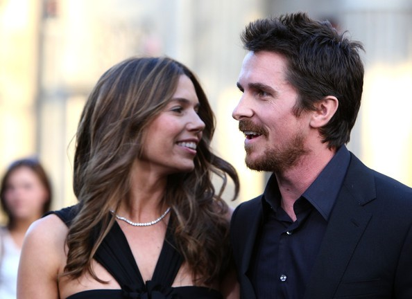 The Big Short Bale with His Wife at Terminator Salvation Premiere