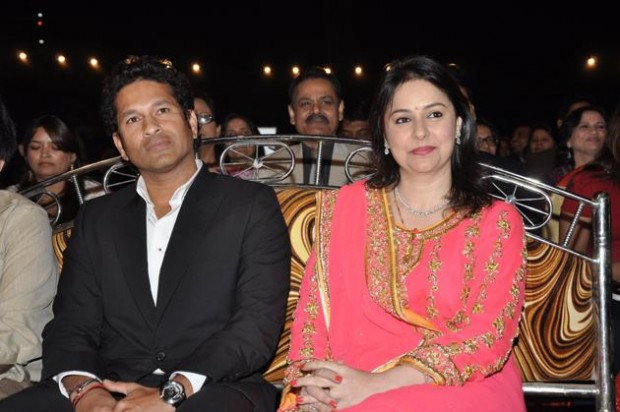 Sachin and his Wife Anjali at a Party