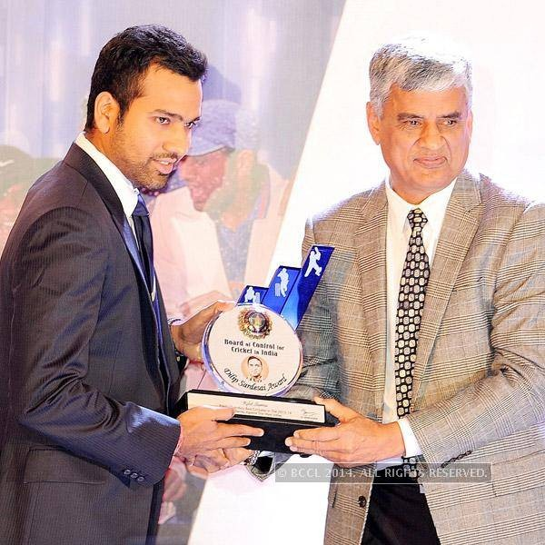 Rohit Sharma Receiving BCCI Award