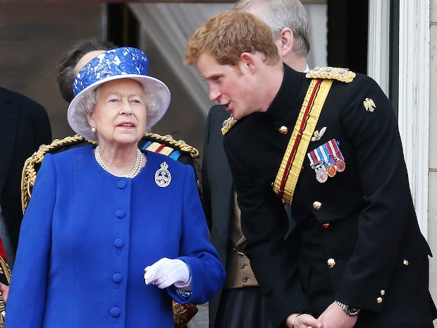 Prince Harry with His Grandmother Queen Elizabeth II
