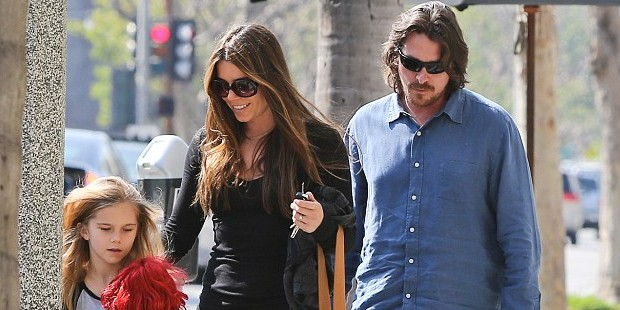Christian Bale with His Family