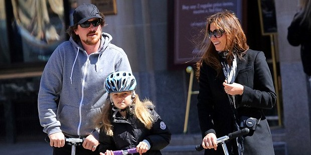 Christian Bale Couple Spending Happy Time with Their Daughter