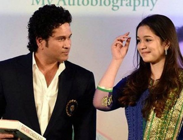 Daughter Sara at Sachin's Book Launch