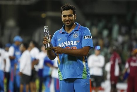 Rohit Sharma With Man Of The Series Award