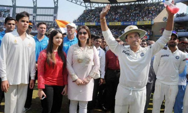 Sachin Tendulkar Family at his Retirement