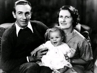 Walt Disney Wife Lillian and his Daughter Diane