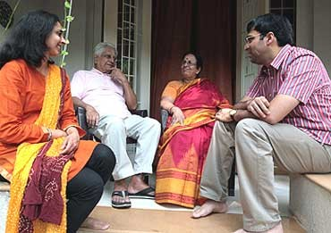 Viswanathan Anand Family