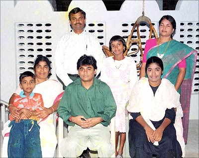 Rahman with His Family