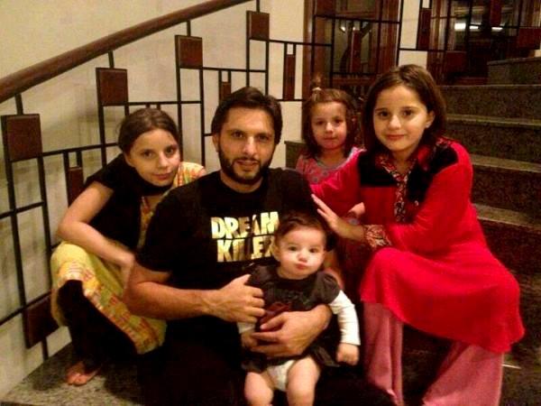 Shahid Afridi Children