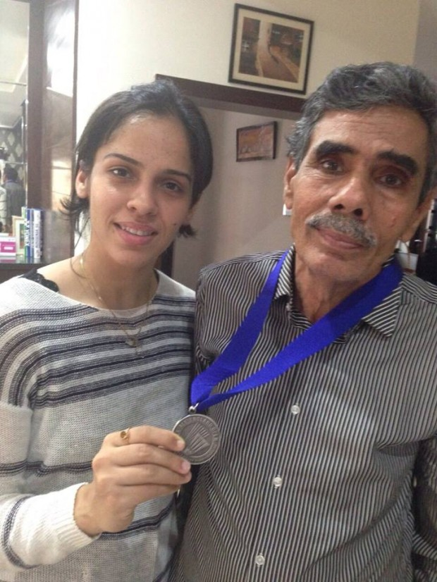 Saina Nehwal with Her Father