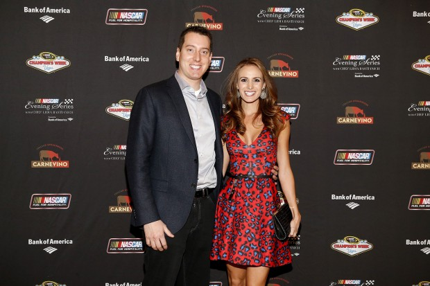 Kyle Busch with His Wife Samantha