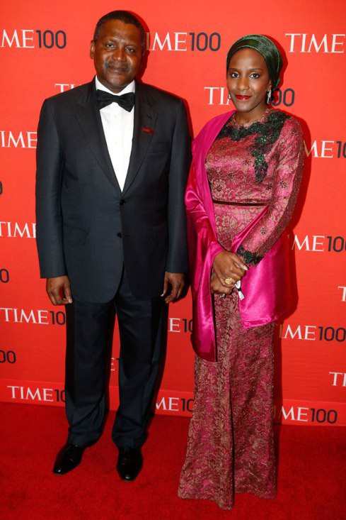 Aliko Dangote with daughter Halima