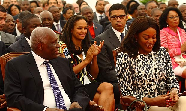 Isabel dos santos with her Parents